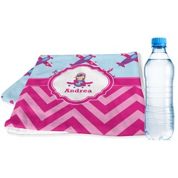 Airplane Theme - for Girls Sports & Fitness Towel (Personalized)