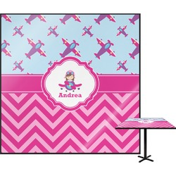 Airplane Theme - for Girls Square Table Top (Personalized)