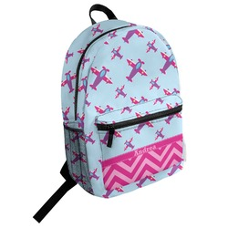 Airplane Theme - for Girls Student Backpack (Personalized)