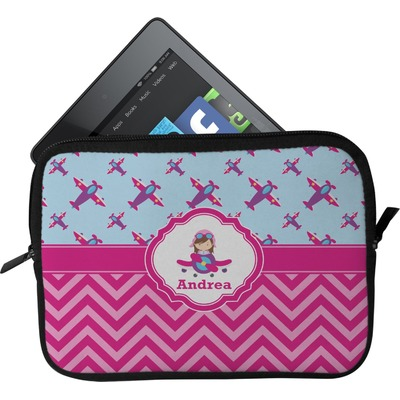 Airplane Theme - for Girls Tablet Case / Sleeve (Personalized)