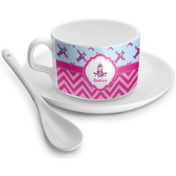 Airplane Theme - for Girls Tea Cup - Single (Personalized)