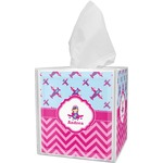 Airplane Theme - for Girls Tissue Box Cover (Personalized)