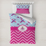 Airplane Theme - for Girls Toddler Bedding w/ Name or Text