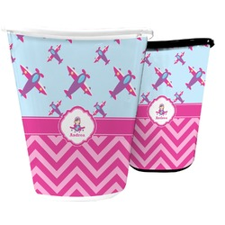 Airplane Theme - for Girls Waste Basket (Personalized)
