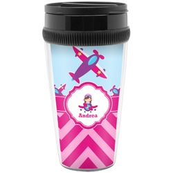 Airplane Theme - for Girls Travel Mugs (Personalized)