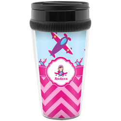 Airplane Theme - for Girls Travel Mug (Personalized)