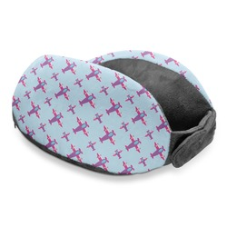 Airplane Theme - for Girls Travel Neck Pillow (Personalized)