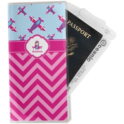 Airplane Theme - for Girls Travel Document Holder