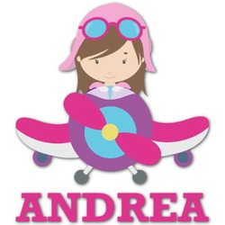 Airplane Theme - for Girls Graphic Decal - Custom Sizes (Personalized)