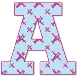 Airplane Theme - for Girls Letter Decal - Custom Sized (Personalized)