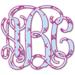 Airplane Theme - for Girls Monogram Decal - Custom Sized (Personalized)