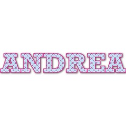 Airplane Theme - for Girls Name/Text Decal - Custom Sizes (Personalized)