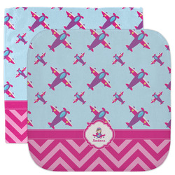 Airplane Theme - for Girls Facecloth / Wash Cloth (Personalized)