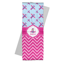 Airplane Theme - for Girls Yoga Mat Towel (Personalized)