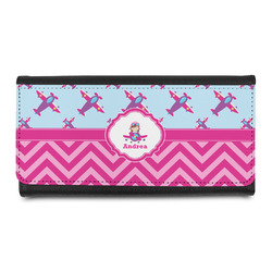 Airplane Theme - for Girls Leatherette Ladies Wallet (Personalized)