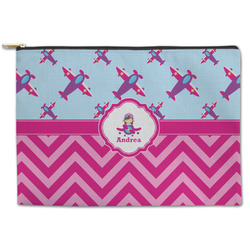 Airplane Theme - for Girls Zipper Pouch (Personalized)
