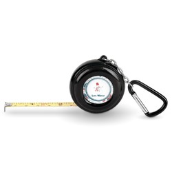 Winter Pocket Tape Measure - 6 Ft w/ Carabiner Clip (Personalized)