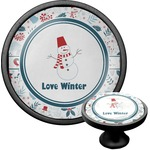 Winter Cabinet Knob (Black) (Personalized)