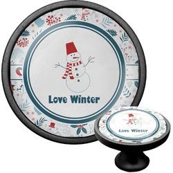 Winter Cabinet Knob (Black) (Personalized)