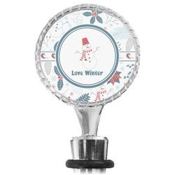 Winter Wine Bottle Stopper (Personalized)