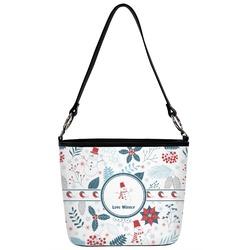Winter Bucket Bag w/ Genuine Leather Trim (Personalized)
