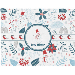 Winter Woven Fabric Placemat - Twill