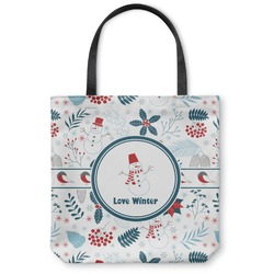 Winter Canvas Tote Bag (Personalized)