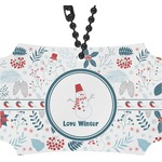 Winter Rear View Mirror Ornament (Personalized)