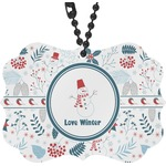 Winter Rear View Mirror Charm (Personalized)