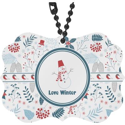 Winter Rear View Mirror Decor (Personalized)