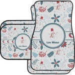 Winter Car Floor Mats Set - 2 Front & 2 Back (Personalized)