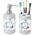 Winter Bathroom Accessories Set (Ceramic) (Personalized)