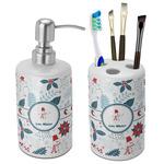 Winter Snowman Ceramic Bathroom Accessories Set