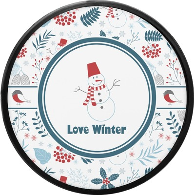 Winter Round Trailer Hitch Cover (Personalized)