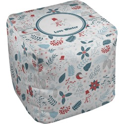 "Winter Cube Pouf Ottoman - 18"" (Personalized)"