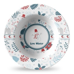 Winter Plastic Bowl - Microwave Safe - Composite Polymer (Personalized)