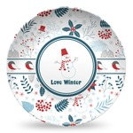 Winter Microwave Safe Plastic Plate - Composite Polymer (Personalized)