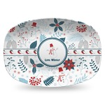 Winter Plastic Platter - Microwave & Oven Safe Composite Polymer (Personalized)