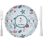 "Winter 10"" Glass Lunch / Dinner Plates - Single or Set (Personalized)"
