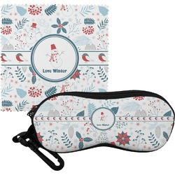 Winter Eyeglass Case & Cloth (Personalized)