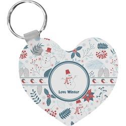 Winter Heart Keychain (Personalized)