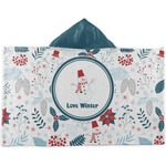 Winter Kids Hooded Towel (Personalized)