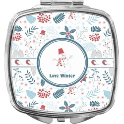Winter Compact Makeup Mirror (Personalized)
