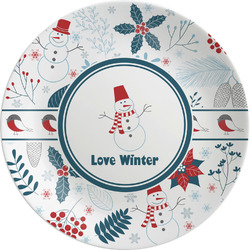 """Winter Melamine Plate - 8"""" (Personalized)"""
