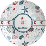 Winter Melamine Plate (Personalized)