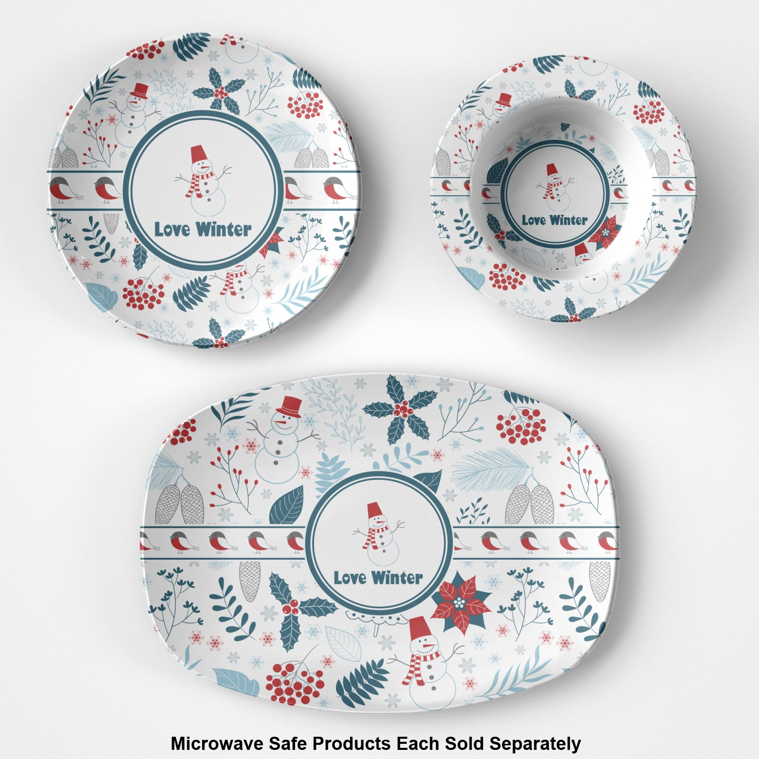 Winter composite polymer plastic bowl personalized for Winter design group