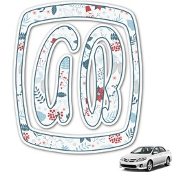 Winter Monogram Car Decal (Personalized)