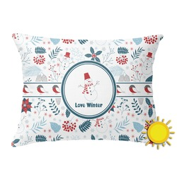 Winter Outdoor Throw Pillow (Rectangular) (Personalized)