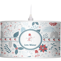Winter Drum Pendant Lamp Linen (Personalized)