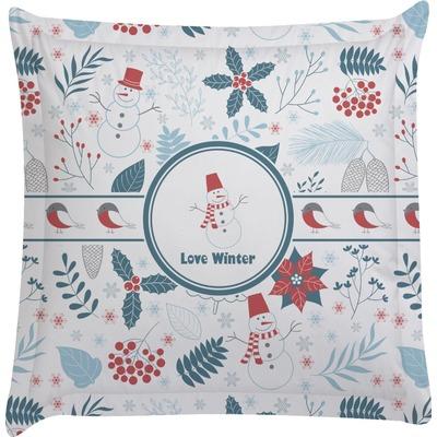 Winter Euro Sham Pillow Case (Personalized)